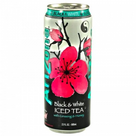 Arizona Black & White Tea 23oz ( 680ml Can ) (US)